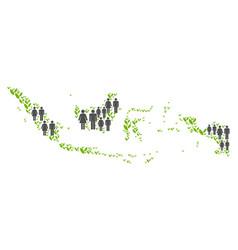 Demographics indonesia map vector