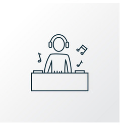 djing icon line symbol premium quality isolated vector image