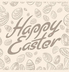 Easter lettering pattern vector