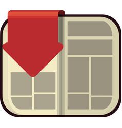Ebook arrow internet web reading lerning icon vector