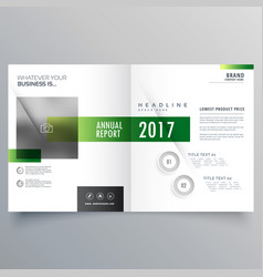 Elegant green bi fold brochure or magazine cover vector