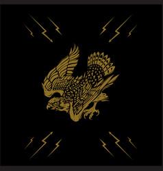 falcon logo vector image