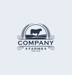 farms logo template vector image