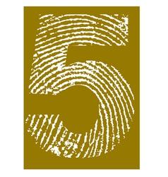 Fingerprint Alphabet No 5 vector