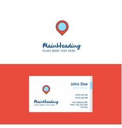 flat map navigation logo and visiting card vector image