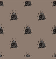 folk art seamless pattern with bugs vector image