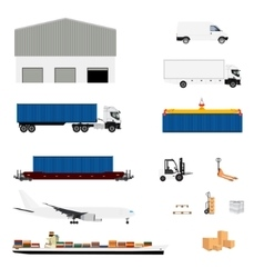 Freight transportation logistics vector image