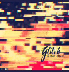 glitch effect design background vector image