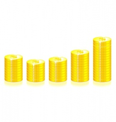 gold coins graph vector image