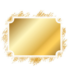 Gold frame beautiful golden glitter design vector