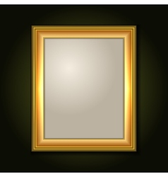 Gold Picture Frame with Light Canvas vector image