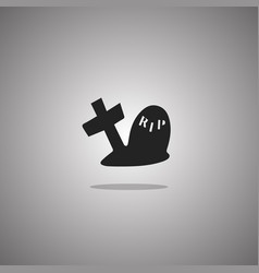 Grave halloween isolated vector