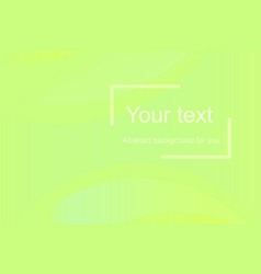 green abstract template for web design vector image