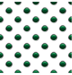Green button pattern vector