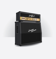 guitar amplifier set vector image