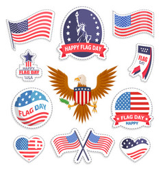 happy flag day national american holiday banner vector image