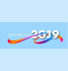 Happy new year 2019 banner design vector