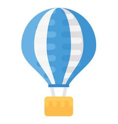 Hot air balloon flat icon vector