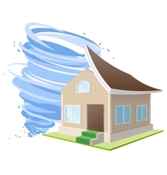 Hurricane winds blew roof off house Property vector