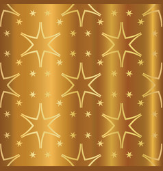 Luxe gold starry all over seamless pattern vector