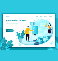 man with presentation vector image