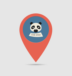 Map pin zoo vector