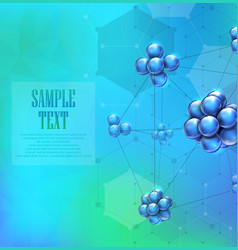 molecules background concept vector image