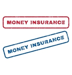 Money Insurance Rubber Stamps vector