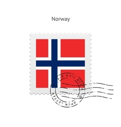 Norway flag postage stamp vector