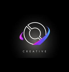 o trendy modern letter logo design monogram and vector image