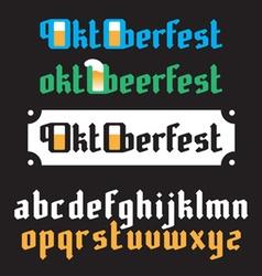 Oktoberfest lettering vector