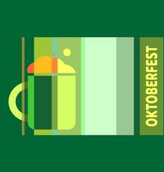 Oktoberfest textured word vector