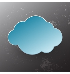 Paper cloud vector
