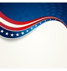 Patriotic wave background vector image