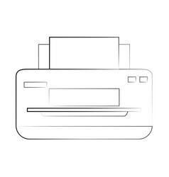 printer paper hardware vector image