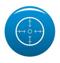 radar icon blue vector image