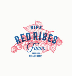 red ribes farm abstract sign symbol or vector image