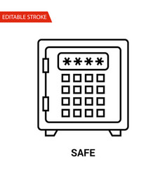 safe icon thin line vector image