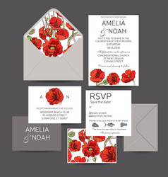 save the date invitation wedding vector image