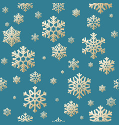 seamless christmas background from snow flakes vector image