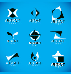set of abstract colorful geometric shapes vector image