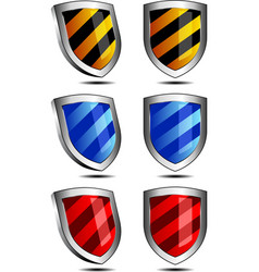 Shields vector image vector image