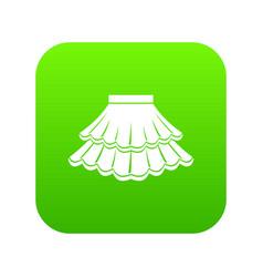 Skirt icon digital green vector