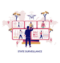 State surveillance concept for web banner vector