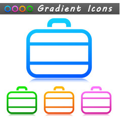 suitcase symbol icon design vector image