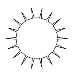 Sun symbol isolated vector