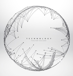 Technology background made with circular mesh vector