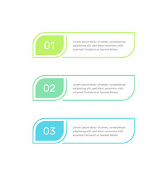three steps infographic elements colorful vector image