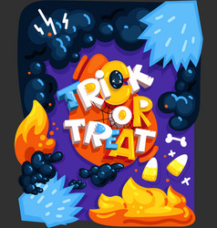 Trick or treat cartoon vector