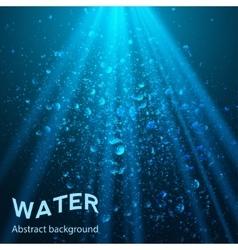 underwater part background vector image